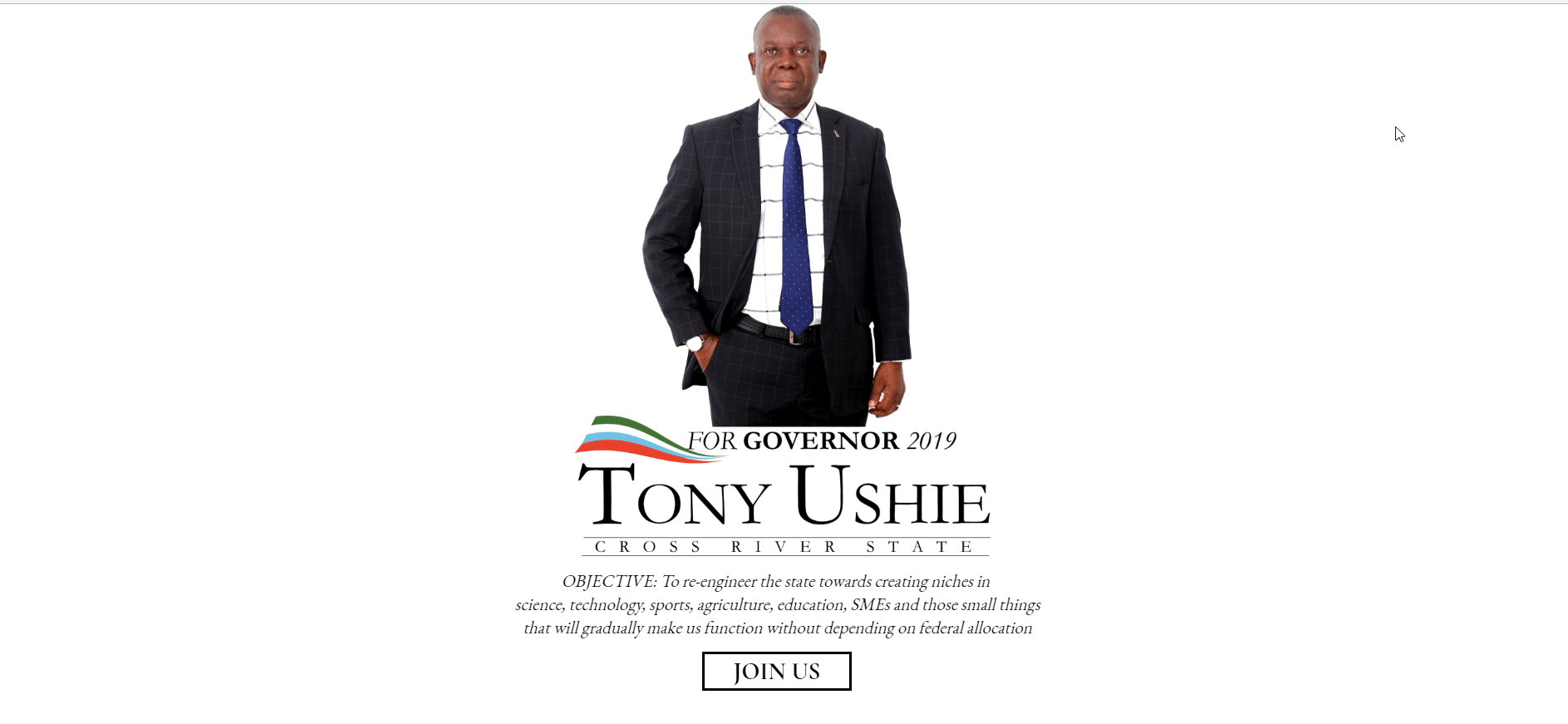 Tony Ushie – Cross River State Governorship Aspirant 2019