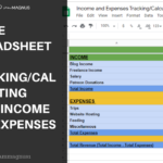 A free expense tracking spreadsheet