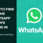 How to find whatsapp group your're in