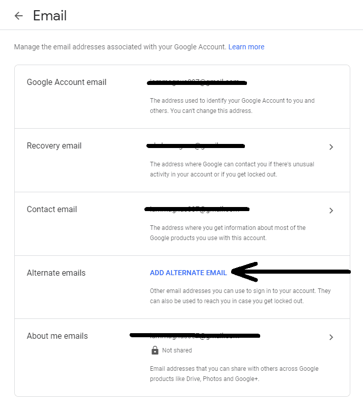 Google Alternate Email Kapwing