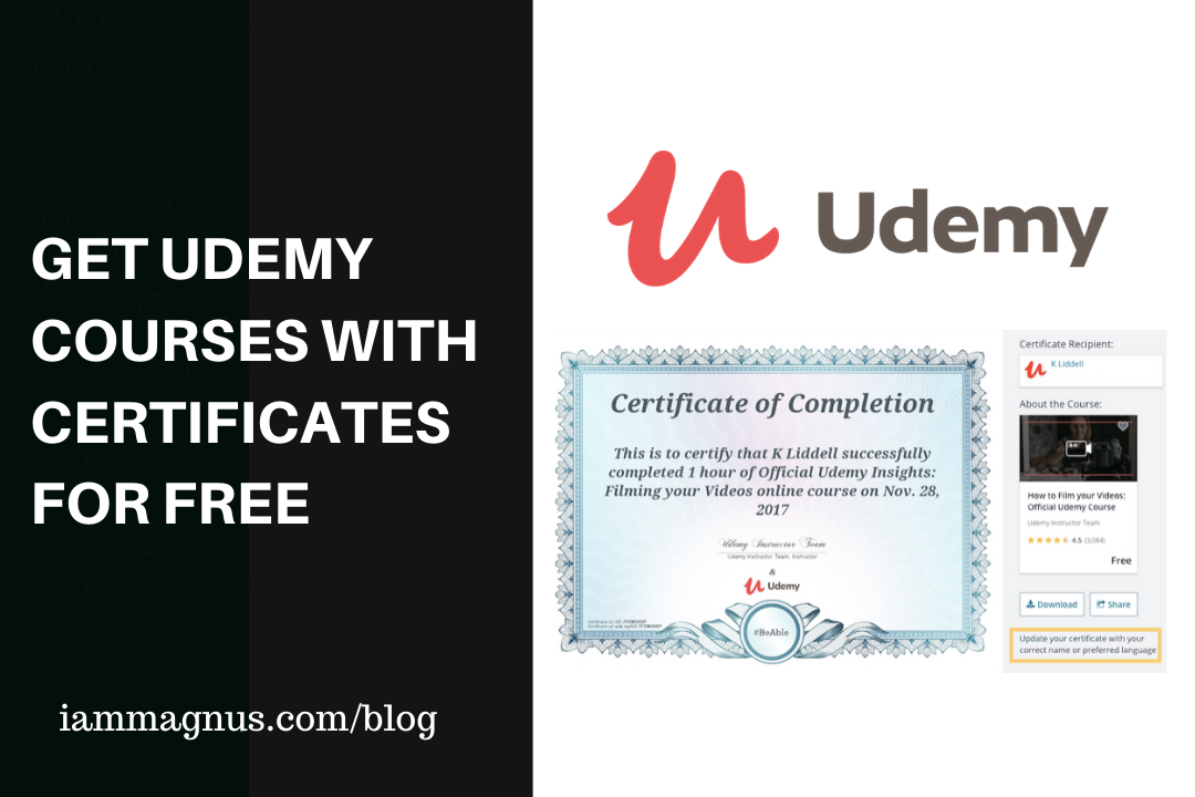 Get Udemy Courses With Certificates for Free
