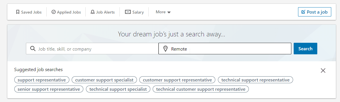 LinkedIn Remote Job Search