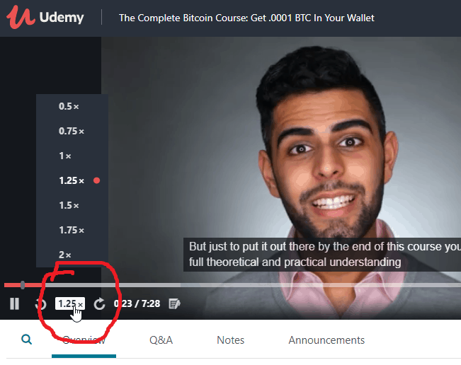 How to Increase and Decrease Playback Speed on Udemy iammagnus