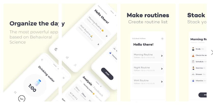 Routinery: Ritual/Routine apps for increased productivity