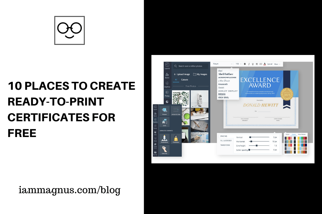 10 Places to Create Ready-to-Print Certificates For Free