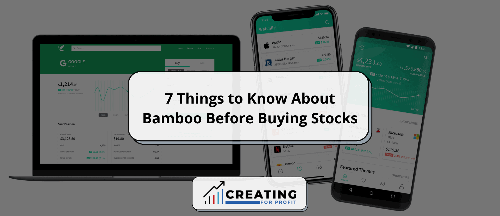 7 Things to Know About Bamboo Before Buying Stocks
