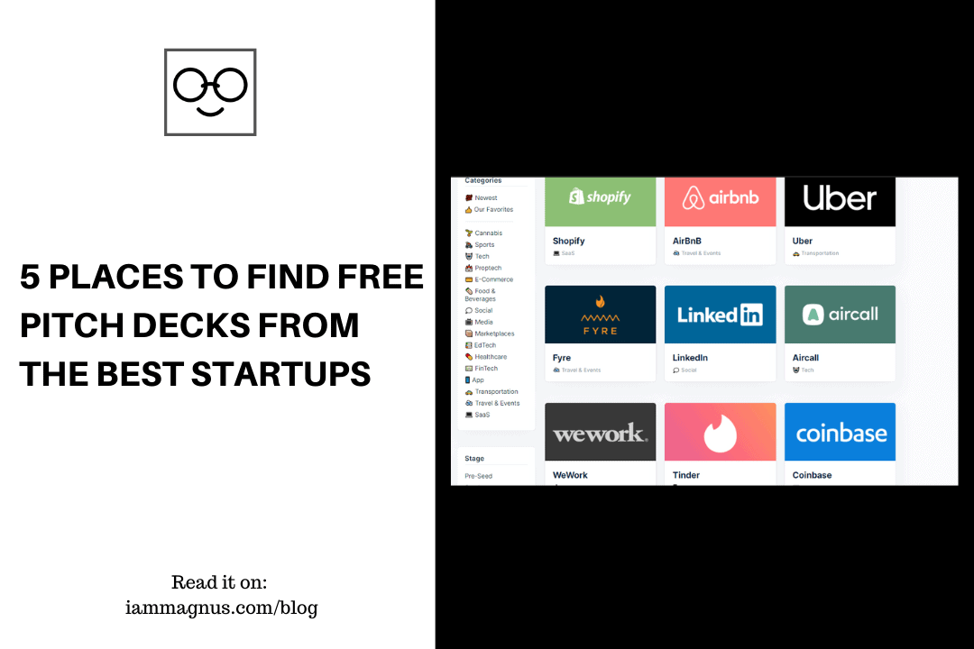 5 Places to Find Free Pitch Decks From The Best Startups