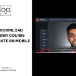 How To Download Your Udemy Course Certificate On Mobile 2