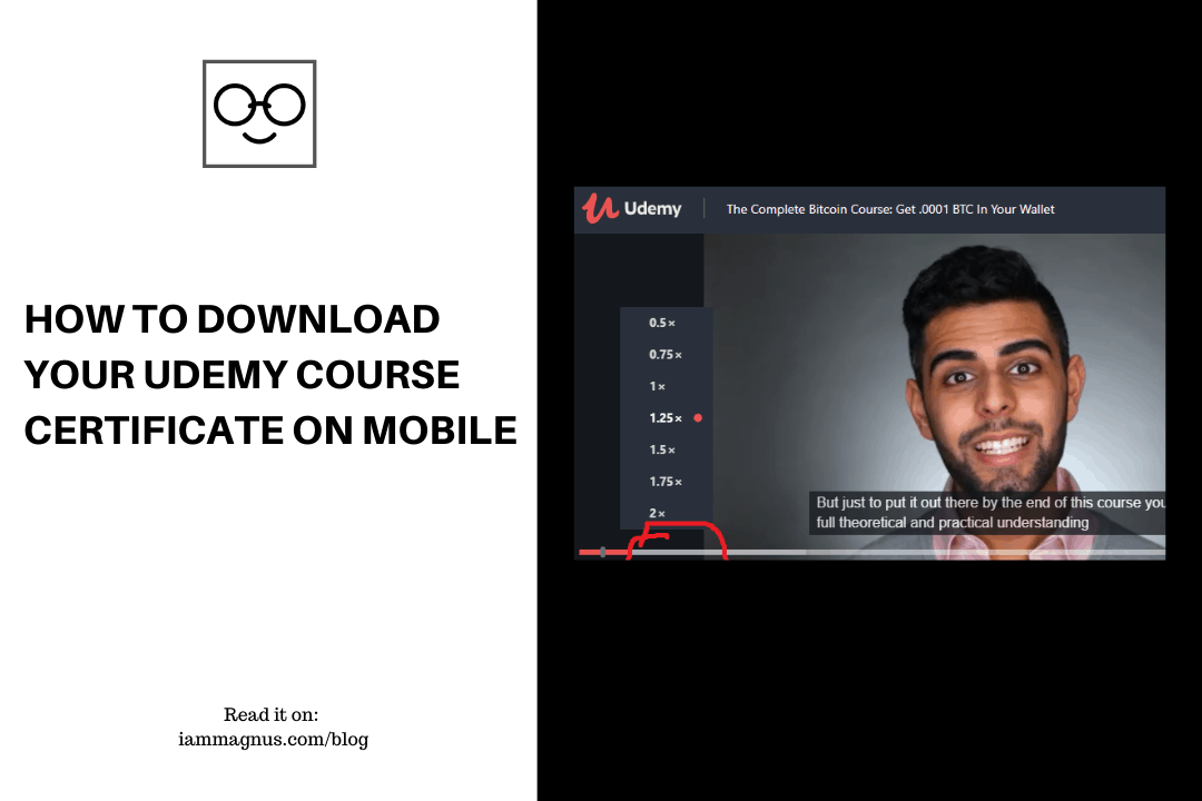 How To Download Your Udemy Course Certificate On Mobile