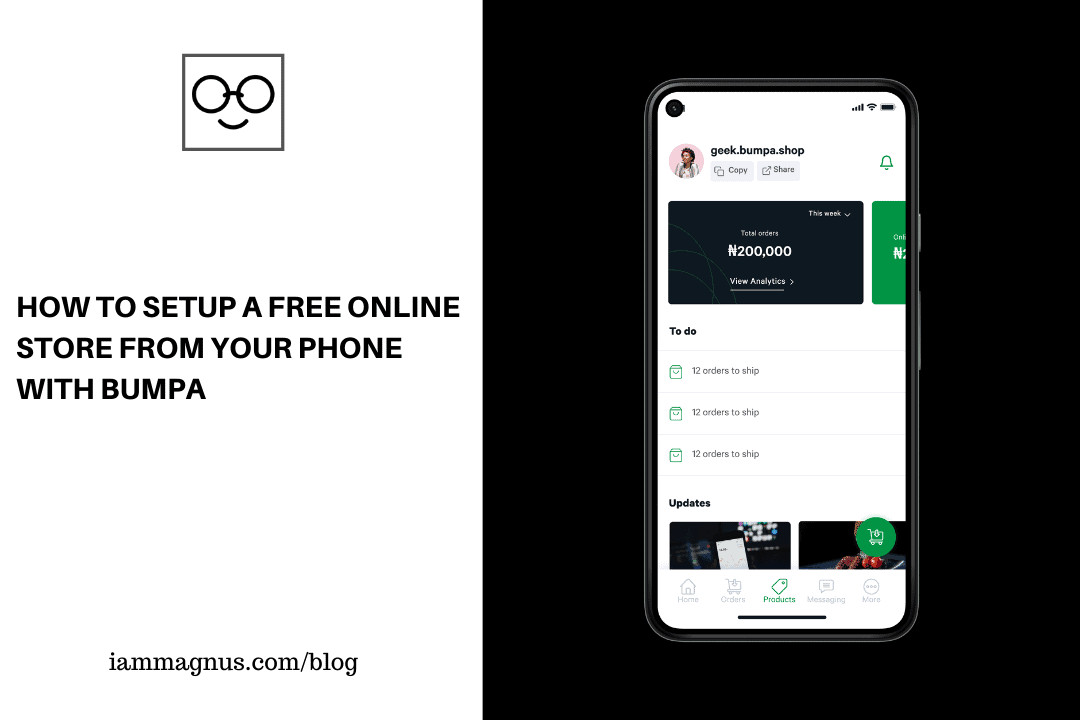 How to Setup a Free Online Store From Your Phone With Bumpa